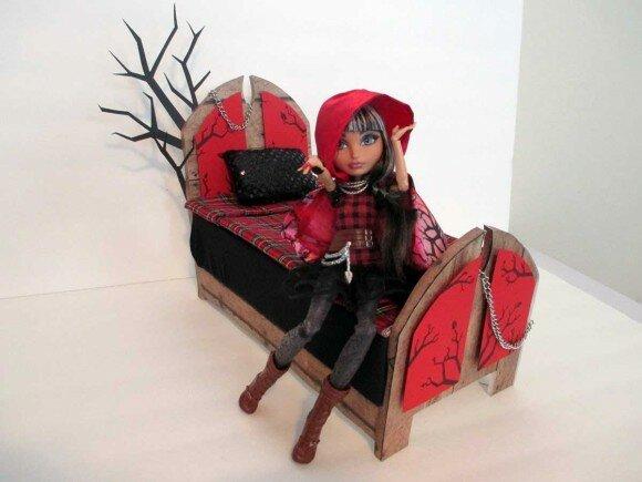 Как сделать кровать для кукол эвер афтер хай на русском