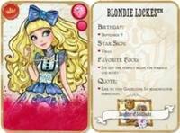 Карточка героини мультфильма Ever After High (Эвер Афтер Хай) Blondie Locks (Блонди Локс)