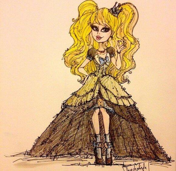 Блонди Локс рисунок