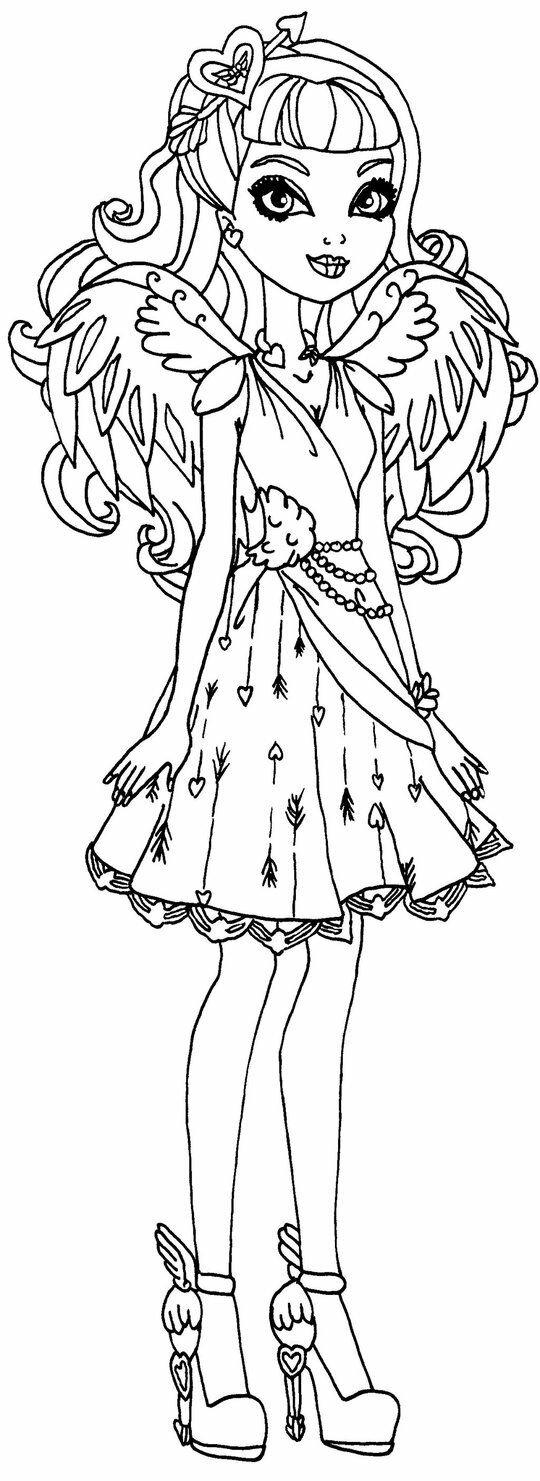 Раскраска платья для кукол