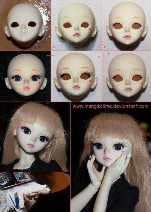 лицо бжд куклы фото