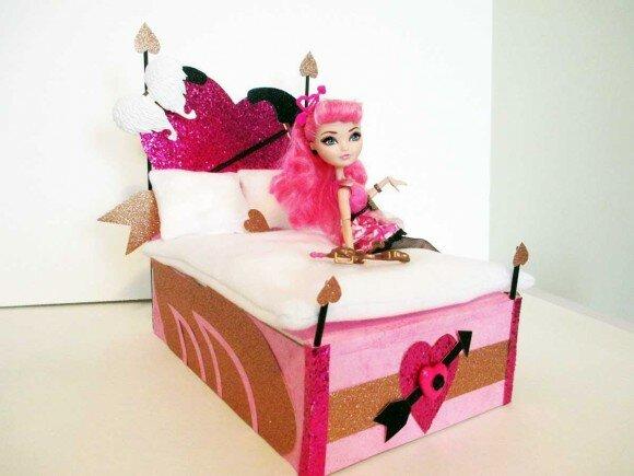 Кровать для кукол своими руками самоделушки