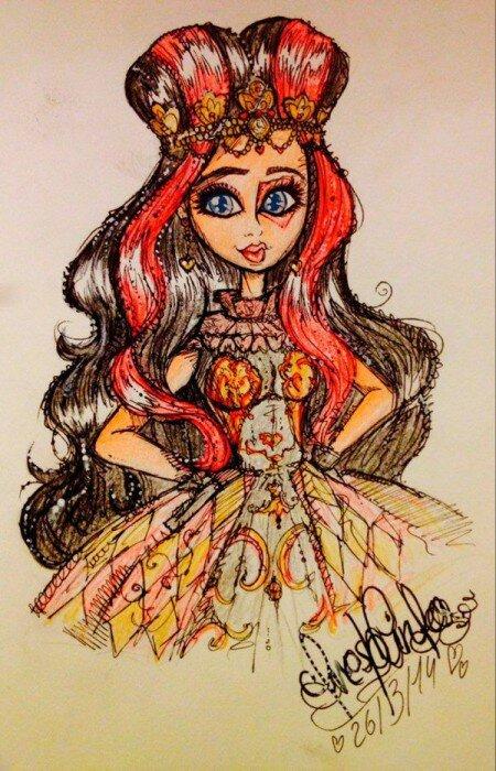 Лиззи Хартс рисунок