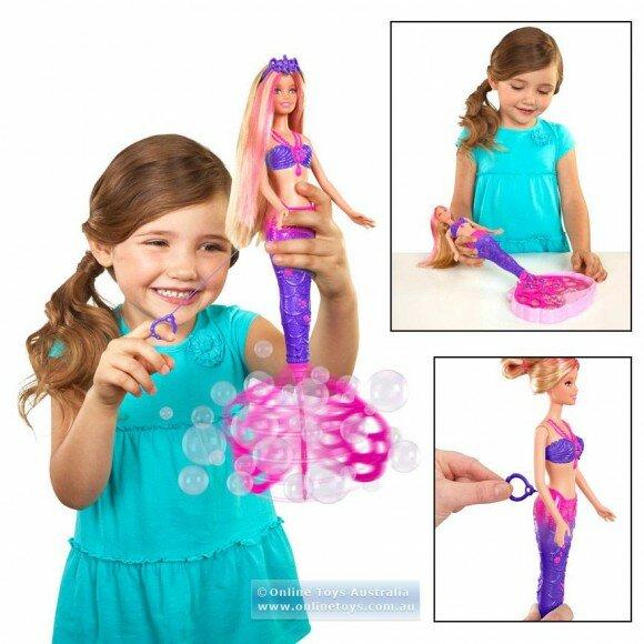барби русалка пускающая воздушные пузыри кукла